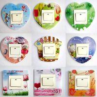 Plastic wall socket switch attached to stick dust protection set the living room can remove the simplicity of modern wall decoration