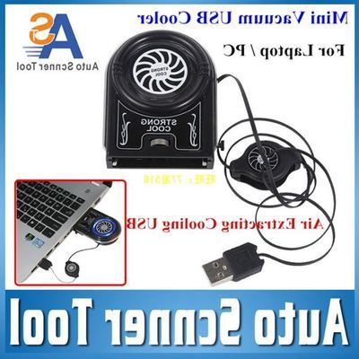 USB Cooler Mini Vacuum Cooling Fan Air For Laptop PC Flexi