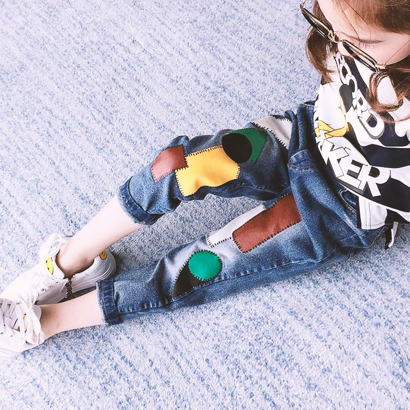6女童七分牛仔裤子7春装夏季新款5-13岁8小女孩修身小脚裤韩版潮9