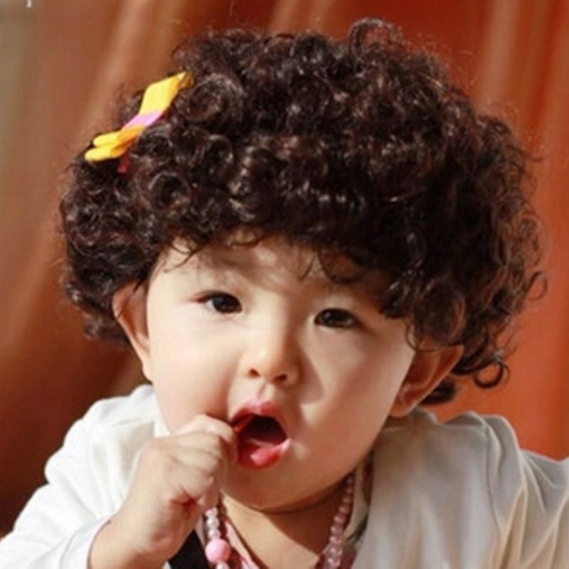 假发 儿童模特假发 男孩假发 球迷爆炸假发 男童可爱拍照假发发套