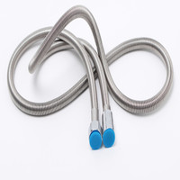 Stainless steel spring hose, 304 stainless steel shower hose, shower hose, stainless steel telescopic nozzle, shower hose