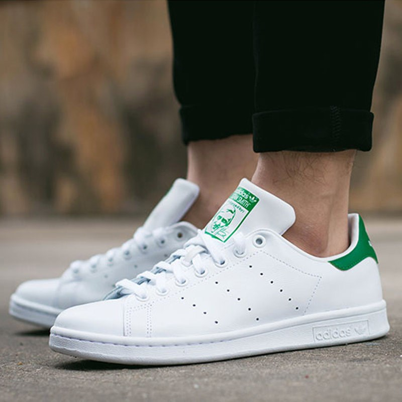 Adidas Adidas men and women shoes clover stansmith Smith couple green tail white shoes