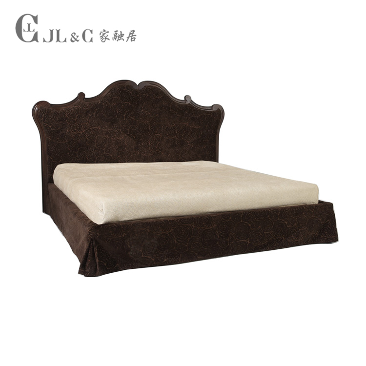 Home in the bedroom furniture wood double melting new classical fabric soft modern soft bed by AB05-01