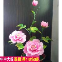 The peony flower material package silk screen material package package package DIY to send silk flowers tutorial manual