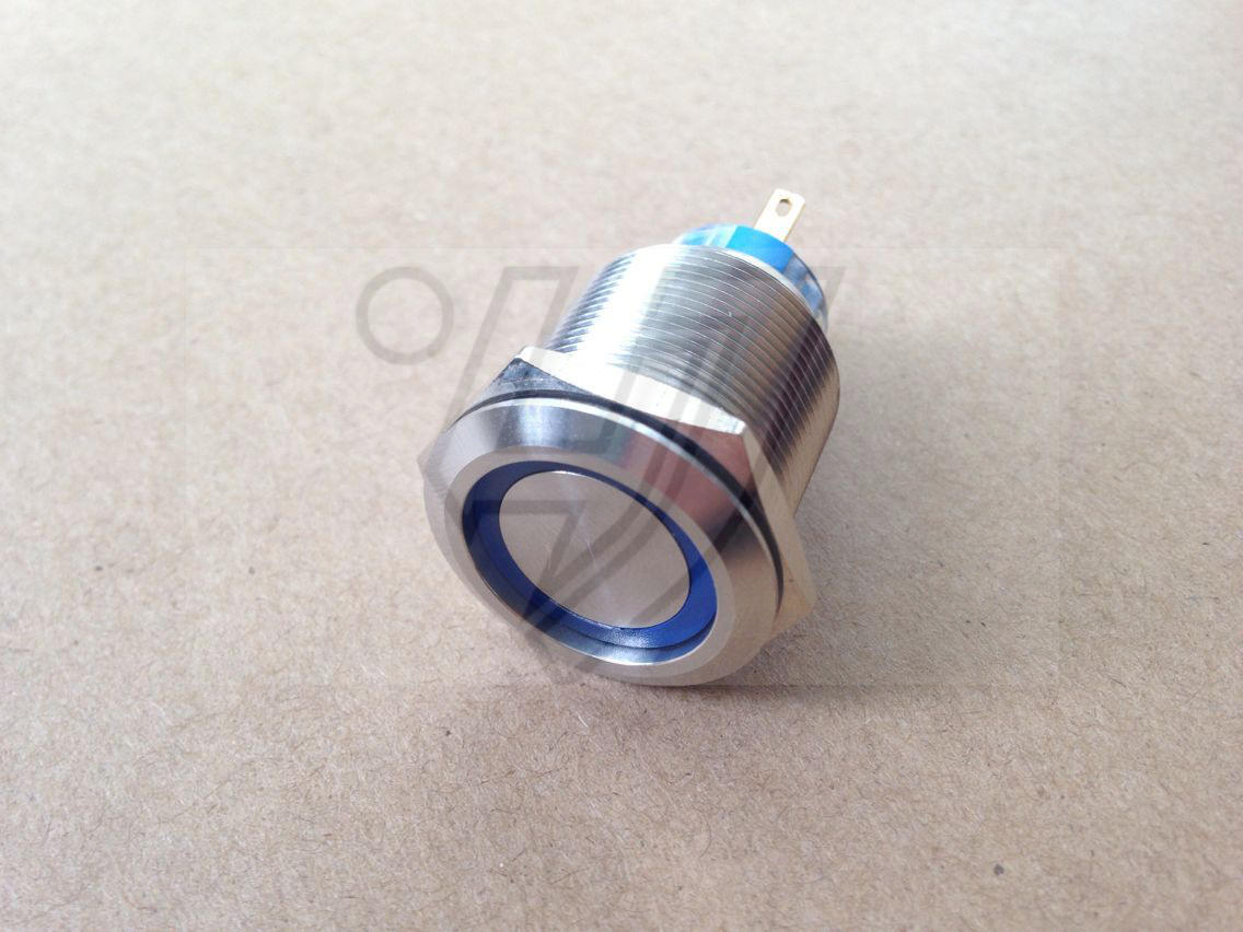 22mm metal self locking ring lamp button switch double knife 12v24v220v waterproof stainless steel