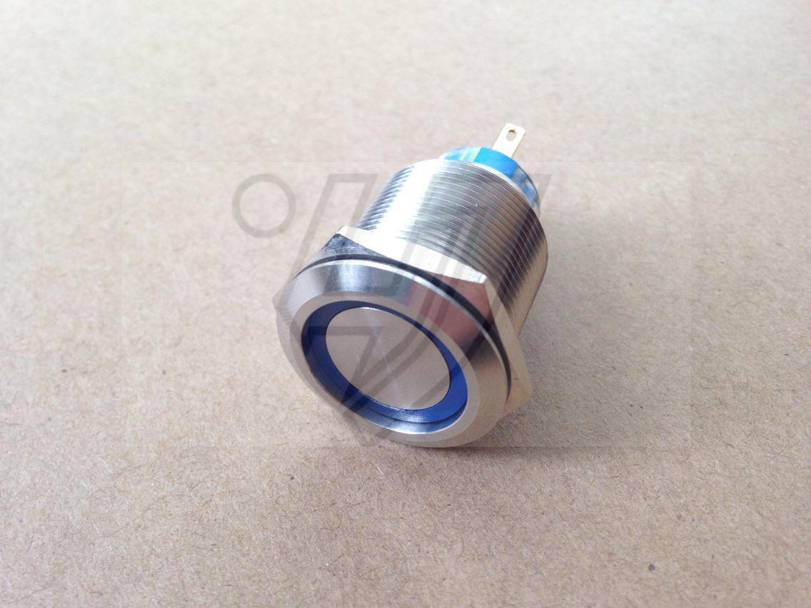 Metal металла с кольцевой лампа кнопку переключатель блокировки из нержавеющей стали 12v24v220v водонепроницаемый двойной нож
