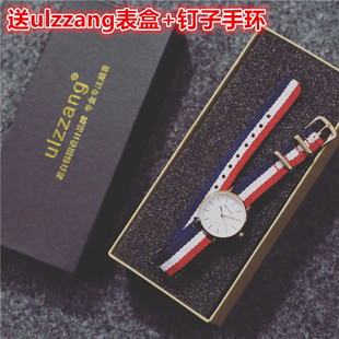 Korean fashion lovers table for girls watch Korean male middle school students leisure complex simple quartz watch