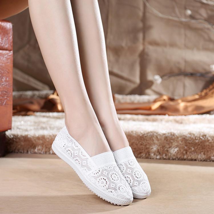 夏季新款网鞋老北京布鞋女鞋软底透气单鞋网面休闲鞋平底网眼网鞋