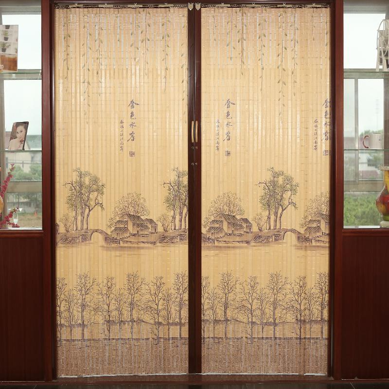 La camera da letto di una semplice Porta pieghevole personalizzazione di bambù tende Ombre domestico giapponese Sub - Divisione di soggiorno le porte scorrevoli