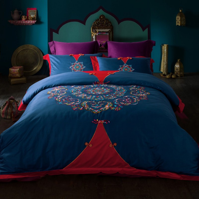 European cotton satin jacquard silk bedding cotton embroidery quilt four sets of special offer