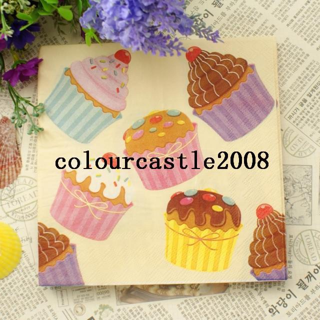NP245 20pcs Delicious Cake Paper Napkins 100% Virgin Wood Ti