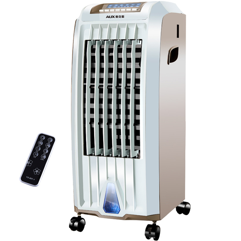 Movable air conditioning fan, cold and warm dual purpose remote air cooler, heater, cooling fan, household mobile small air conditioner