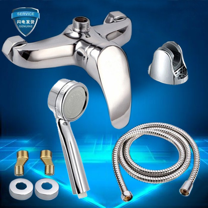 Shipping bathroom shower shower faucet accessories water heater cold hot water mixing valve shower set
