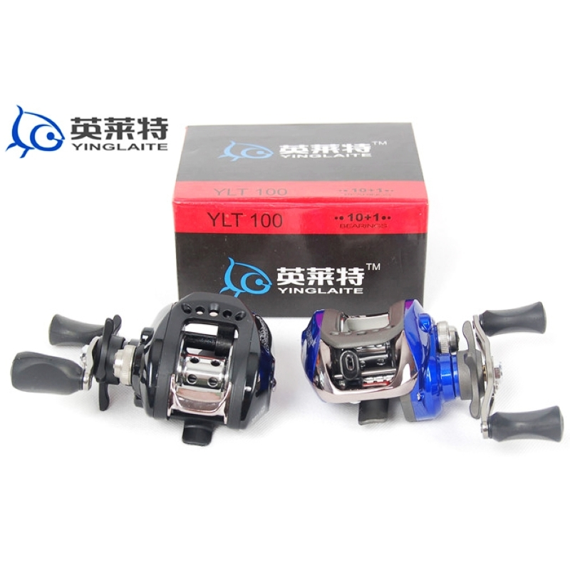 The special YLT-100 type 10+1 axial magnetic brake hand drops round black blue road Yalun fishing