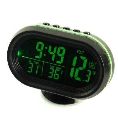 Đồng hồ xe ô tô trong và ngoài đôi xe xe dùng nhiệt kế điện tử Dạ Quang đồng hồ điện tử số dây đồng hồ hiển