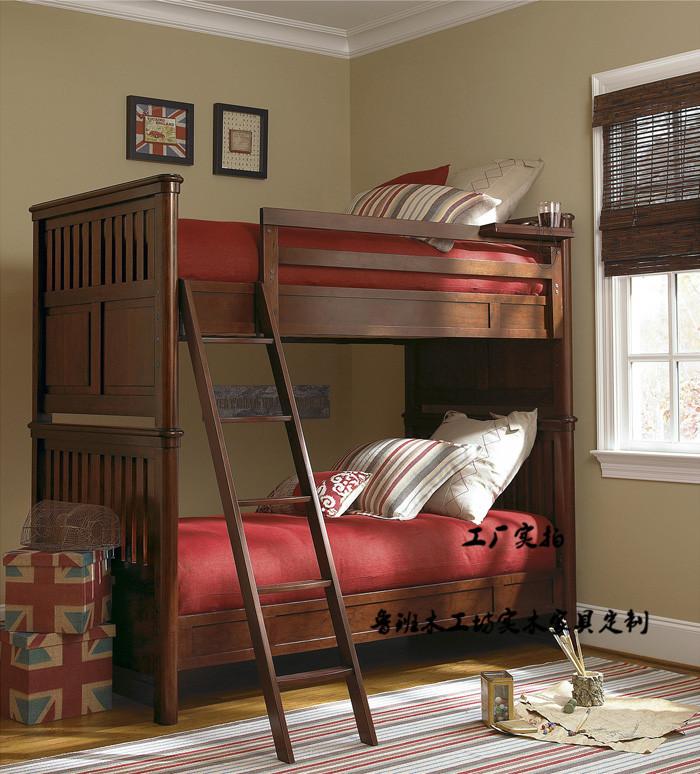 特価包郵インストール全木造アメリカン2段ベッドに高低ベッド安全エスカレーター直輝の上海と杭州をカスタマイズ