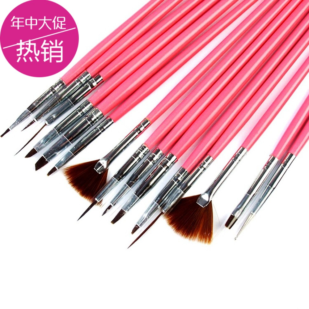 Nail pen brush sets a full set of color painting flowers, phototherapy brush wire tools, nails 15 sets of strokes strokes pen