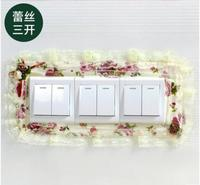 Creative decorative lace pocket switch set resin simple modern European style lights switch socket wall protection style