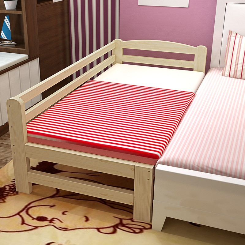 Solid wood bed wooden bedstead bed widened loose bed bed bed bed widening lengthened children bed stitching can be customized