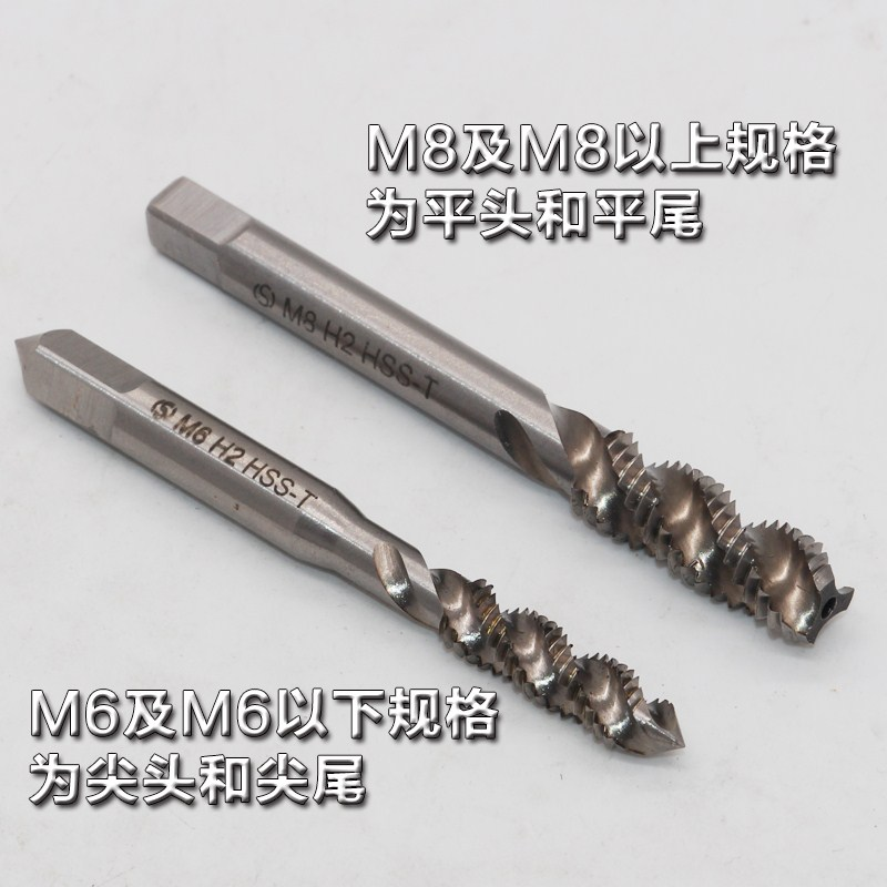 With the power of m2m3m4m5m6m8m10m12m16m20 wire spiral groove cone wire tapping tapping machine for stainless steel