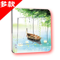 Square wall stickers stickers stickers affixed to the switch room decoration switch socket set stick Decal Sticker switch socket