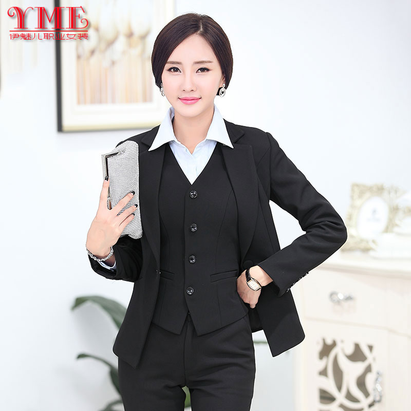 Autumn and winter are female occupation by long sleeved suit vest code set  OL slim dress tooling ... - And Winter Are Female Occupation By Long Sleeved Suit Vest Code