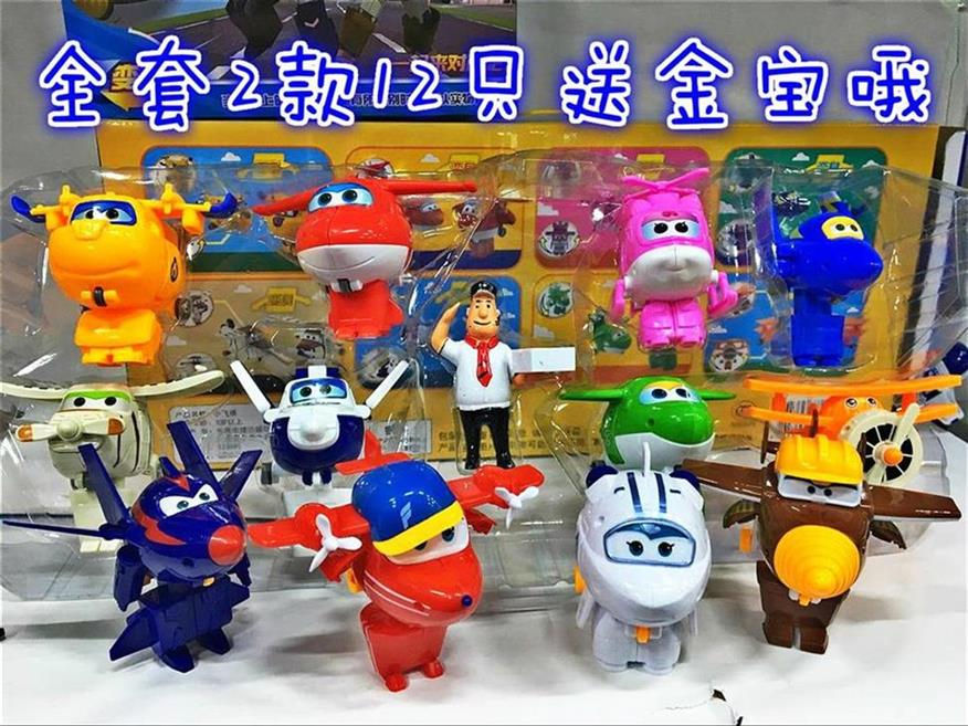 Новые деформации игрушки супер МакФлай мультфильм робот костюм 12 только полный набор конфет коллекционное издание