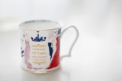 欧美艺术插画 女性时装主题 英式复古骨瓷 咖啡红茶马克杯 礼盒装原单