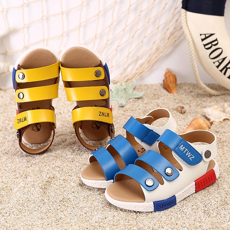 2017男童凉鞋儿童夏新款夏季清凉童鞋女童夏款小孩沙滩鞋潮鞋