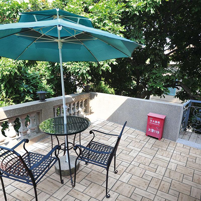 Terraza balcón antiguo piso de ladrillos de techo de ladrillo retro Matte Anticongelante Antideslizante usando el patio de baldosas de 400