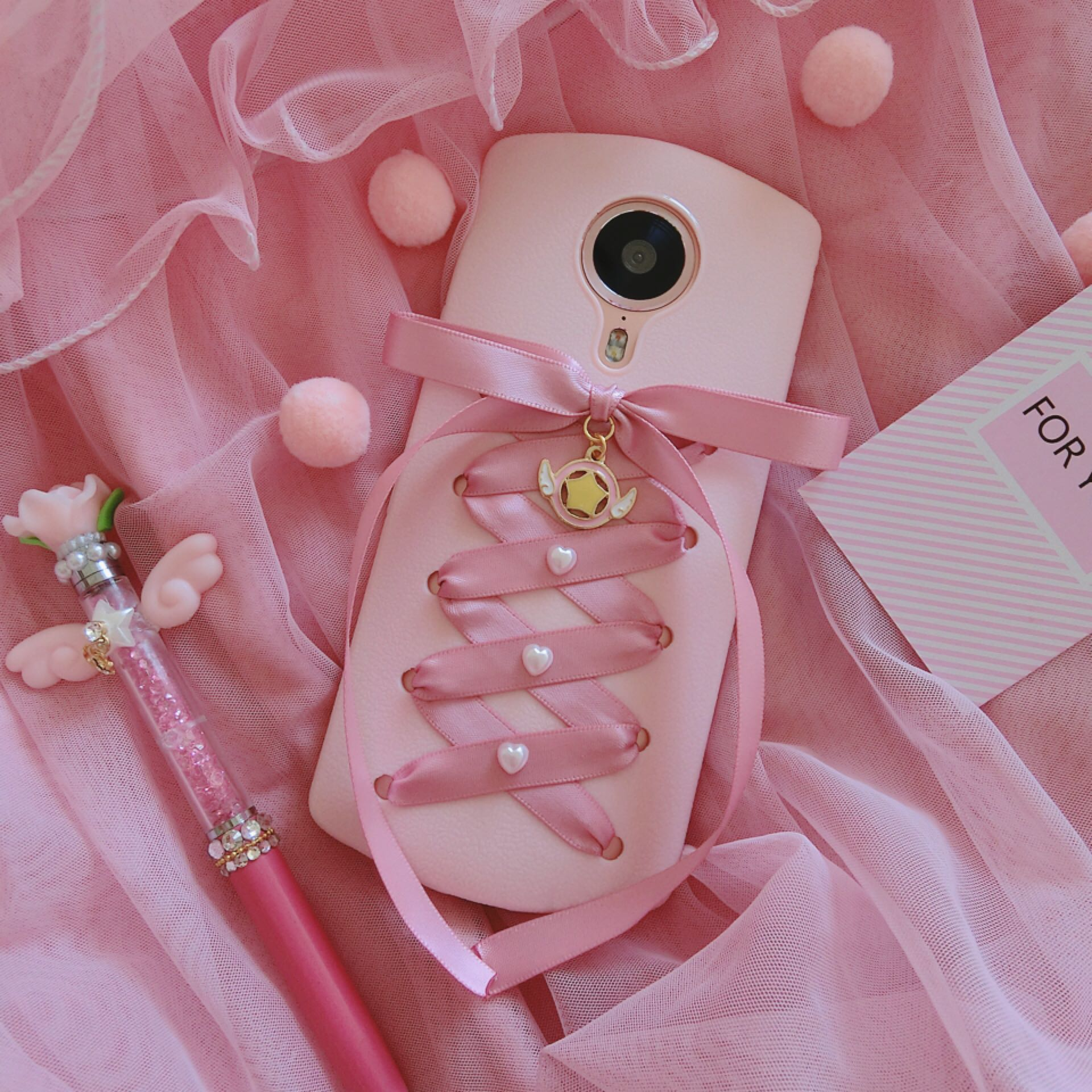 Mito M8/T8/M6S/M4 Sakura morphers ribbon girl heart all silicone mobile phone shell