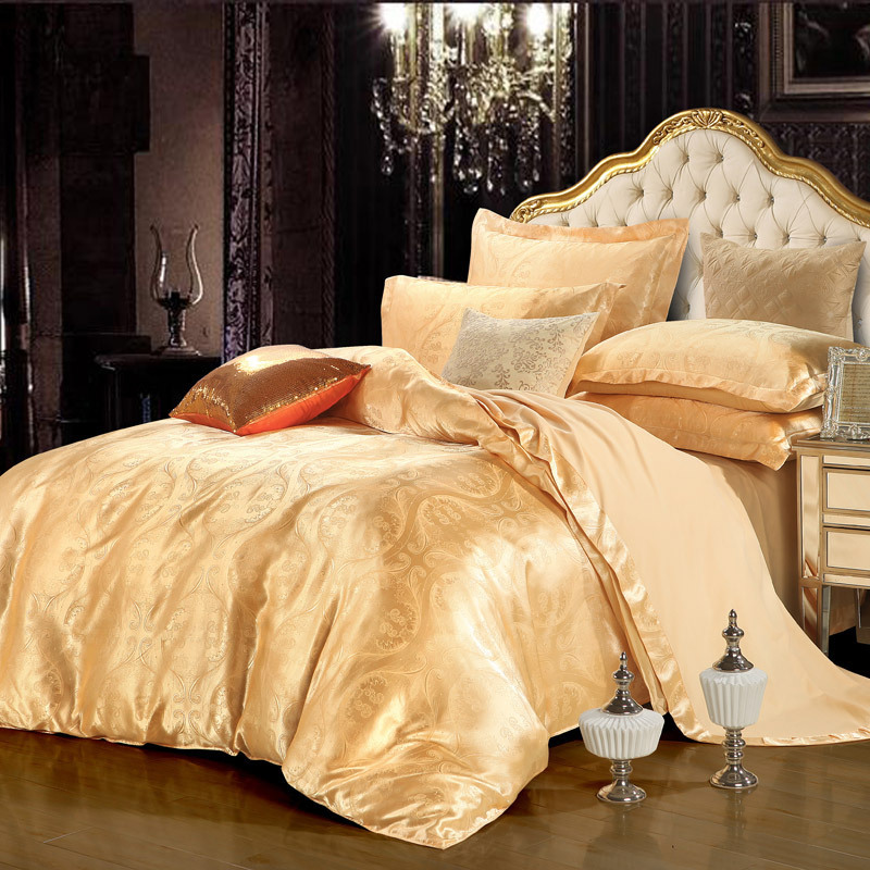 Silk Satin Jacquard and Cathy palace luxury style four piece Nantong net sales of textile goods