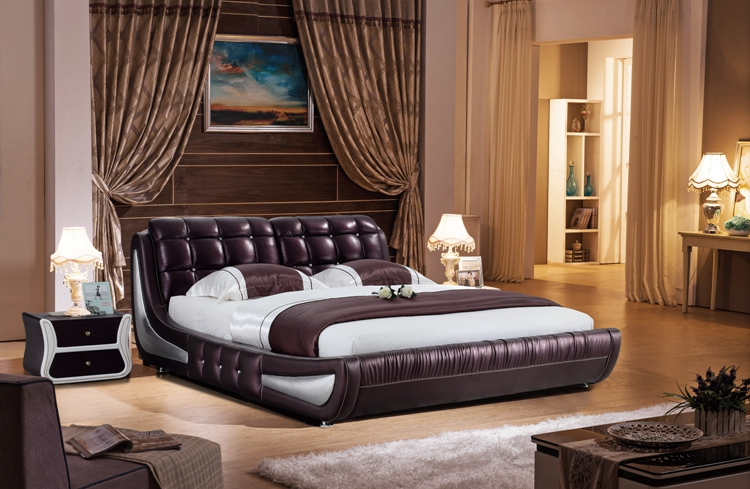 Europe classic solid wood bed 100 years double bed leather /1.5 meters /1.8*2 meters /2*2.2 meters shipping