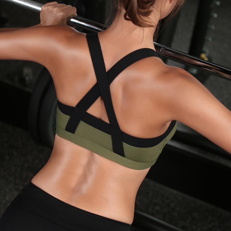 Tremblement de terre de rassembler un soutif de sport féminin de musculation en sous - vêtements de support sans corset courir le gilet C Yoga Bra
