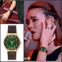 American purchasing Swatch swatch Green Water Ghost lady watch Zhang Zhang Jin lady wrist watch ygg406