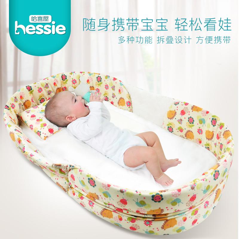 新生児の小さいベッド携帯ベッド赤ちゃんbb折りたたみベッドサイドベッド移動ミニ簡易旅行