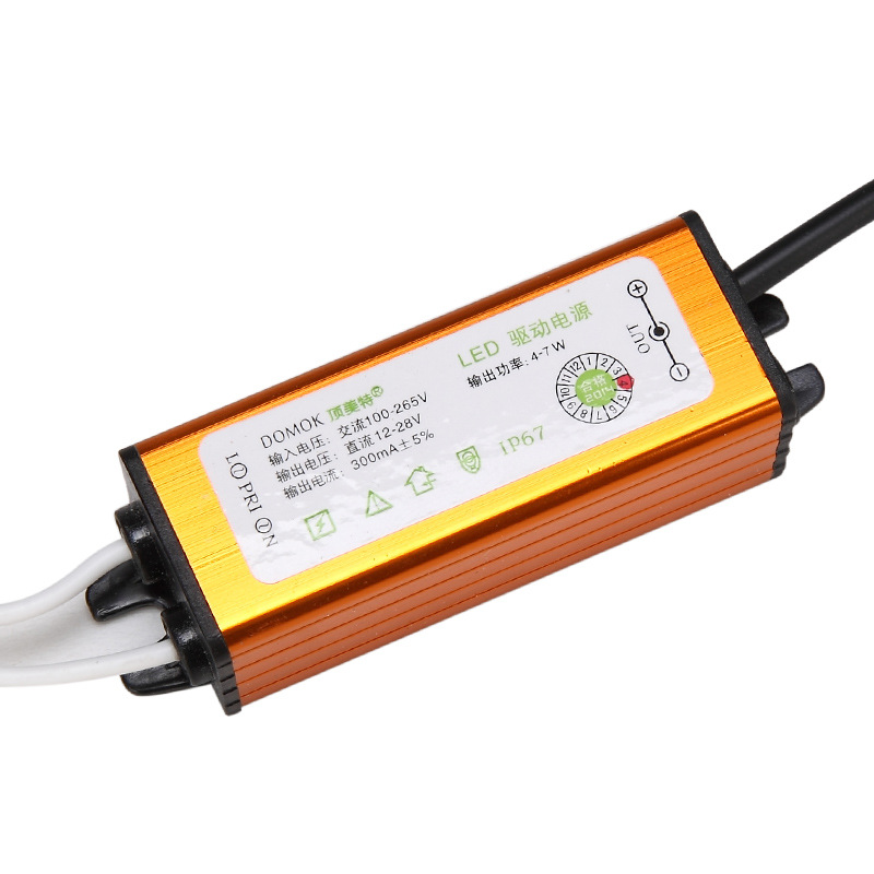 16 - 18 - 8 - 14 makt ledde vattentät lykta tillsynsmyndighet 4-7W förkopplingsdon - adapter