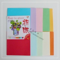 Export single color origami paper-cut 12cm10 color 100 color origami children handmade paper