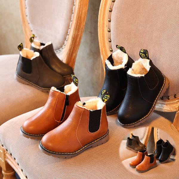 9男童鞋8女童皮鞋7冬季儿童6马丁靴短靴5加绒宝宝4棉鞋软底1-3岁2