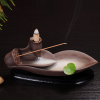 [] back lotus incense incense incense base flow smoked incense censer living creative ornaments