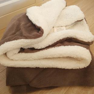 小毛毯盖毯羊羔绒双层午睡毯子