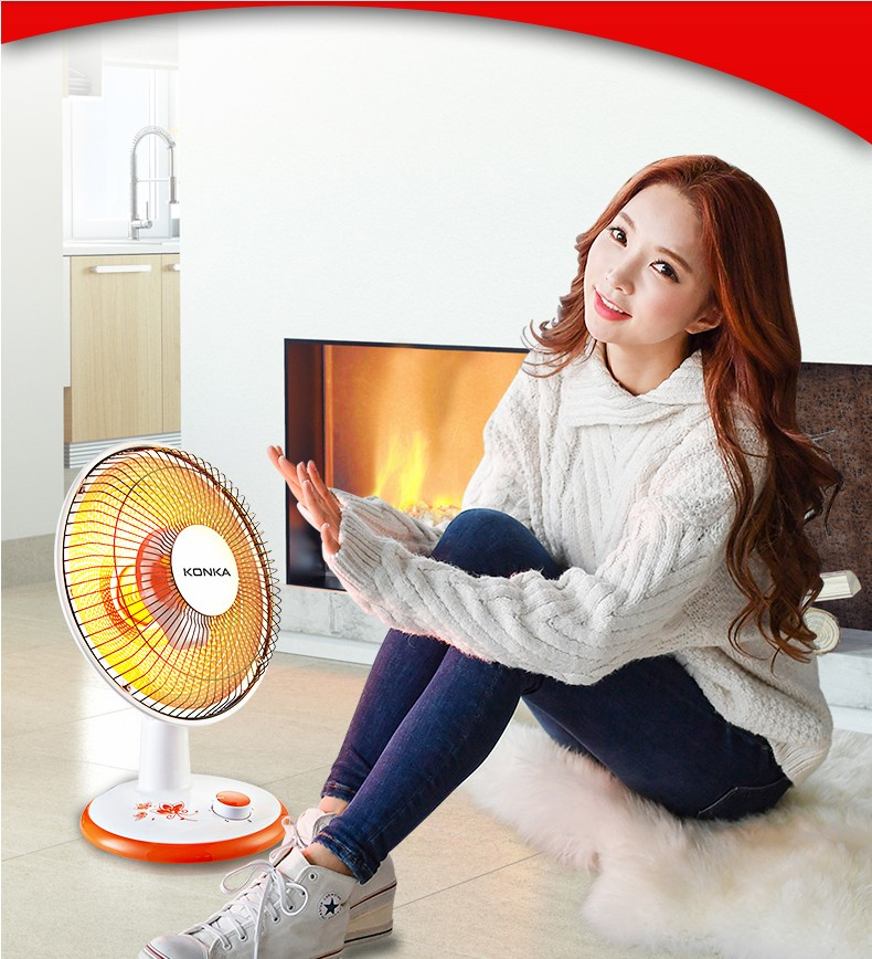 Energy saving, heating and cooling dual purpose air conditioner with electric fan, household energy saving, fast heating and electric heating air heater