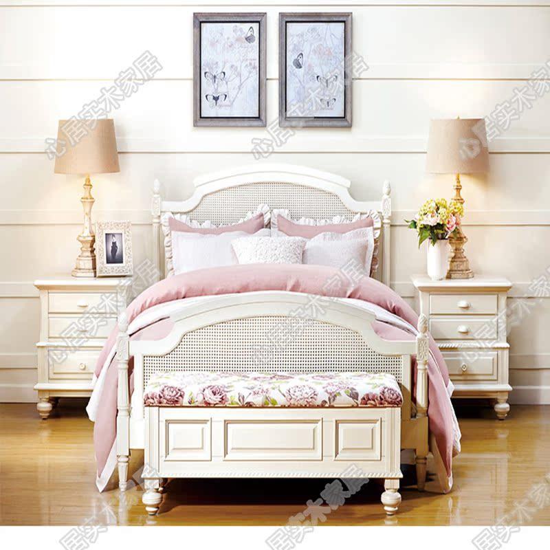 американски село бели деца двойно легло, просто легло за принцеса неокласическо спалнята 1.51.8 метра двойно легло.