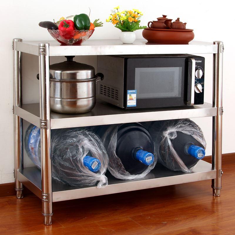 нержавеющая сталь толщиной 3 слоя микроволновой Хоб кухня стеллажи для хранения овощей в духовке полки стойка посадку на заказ