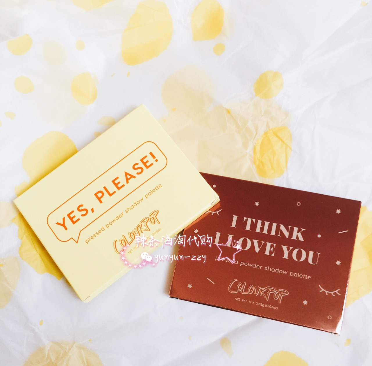 现货Colourpop卡拉泡泡眼影Yes Please日落 I think 玫瑰盘she