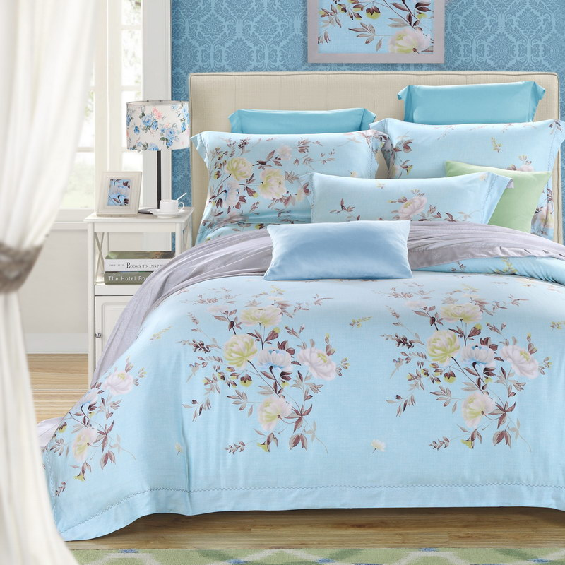 With a big double Tencel four piece spring bed linen bedding naked wedding new spring and summer