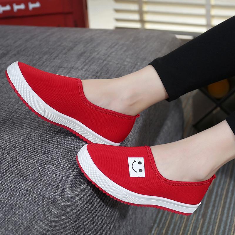 春季老北京學生布鞋女休閑運動防滑低幫帆布鞋套腳一腳蹬單鞋女鞋