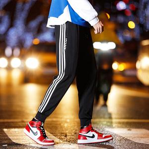 【今日下单69元】夏薄款嘻哈裤韩版三条杠休闲运动裤宽松街头风潮