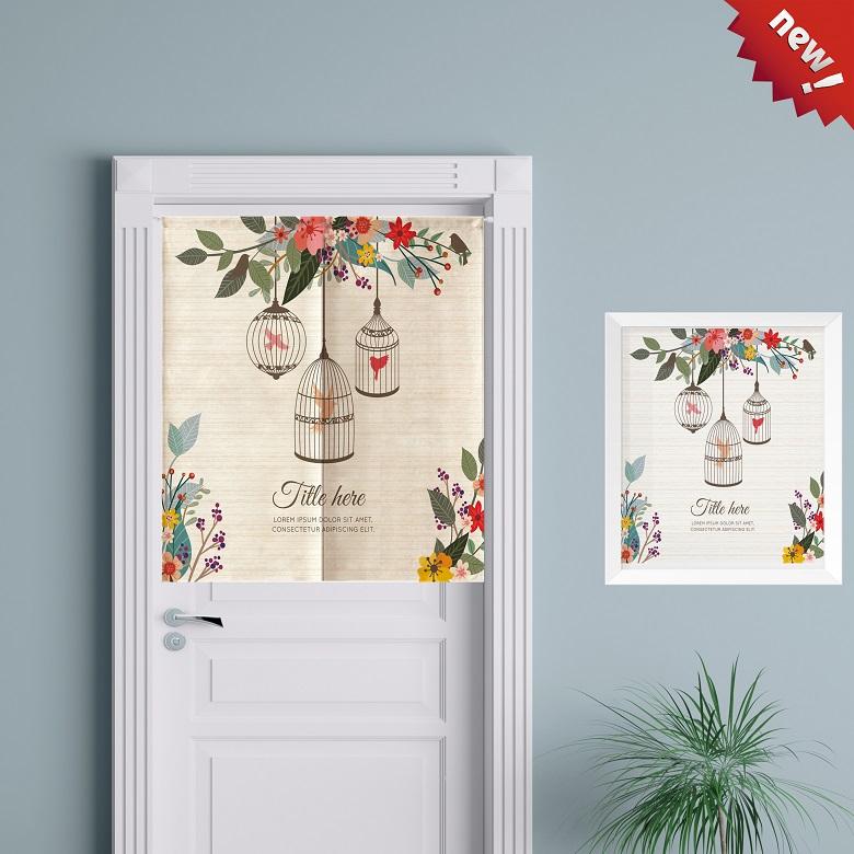 Quarto decoração Cortina Cortina de tecido de algodão grosso - Feng Shui Sala Cozinha banheiro personalizado Cortina Cortina divisória semi -