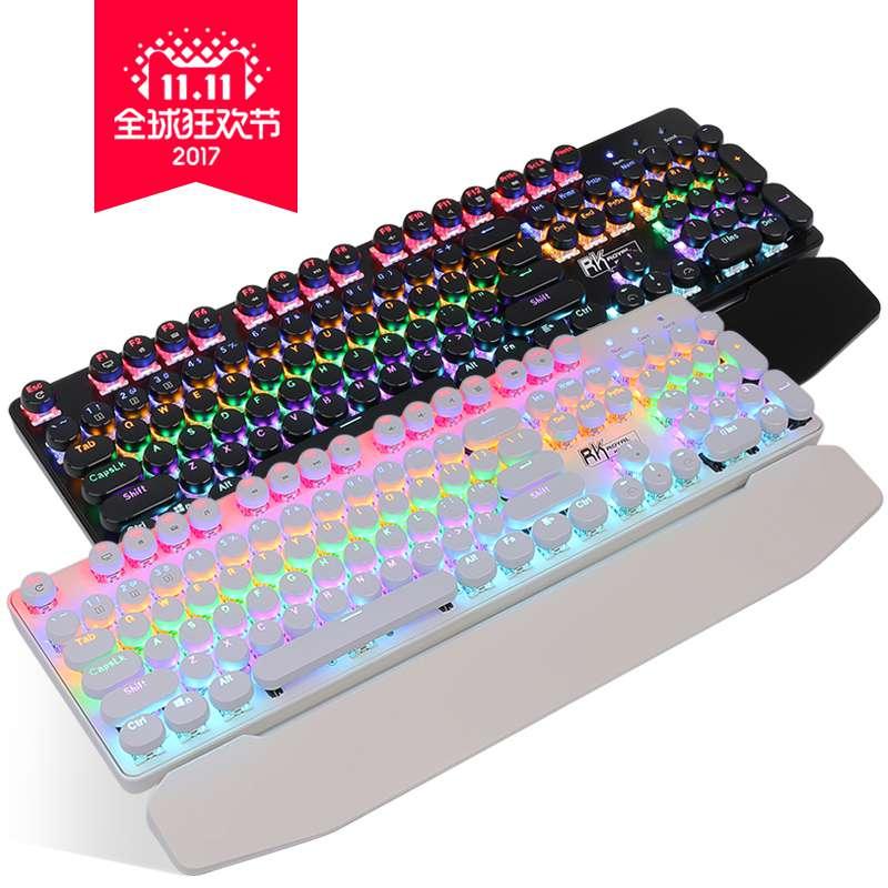 920 Steampunk un clavier mécanique de l'axe de l'axe de l'arbre de thé vert Noir - Rouge de bureau de rétroéclairage cybercafé de jeux Internet